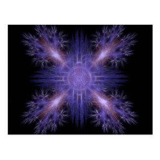 Spinning Pinwheel Fireworks Fractal Art Design Postcard