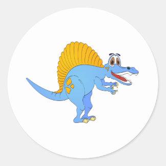 Spinosaurus Dinosaur Cartoon Classic Round Sticker