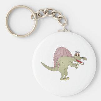 Spinosaurus Dinosaur Cartoon Key Ring