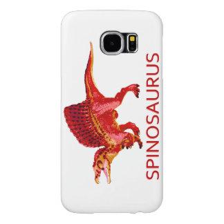 Spinosaurus on White Samsung Galaxy S6 Cases