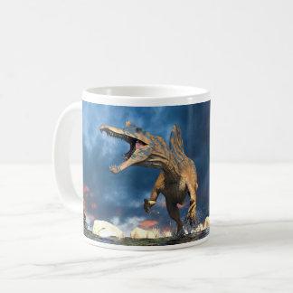 Spinosaurus running coffee mug