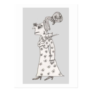 Spinster Agnus And The Sleeping Cats Postcard