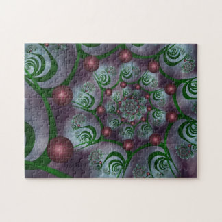 Spiral and Spheres Color Mix Fractal Jigsaw Puzzle