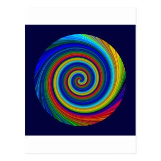 Spiral Blur Post Cards