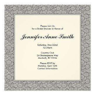 Spiral Bridal Shower Invitation
