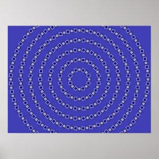 Spiral Circles Poster