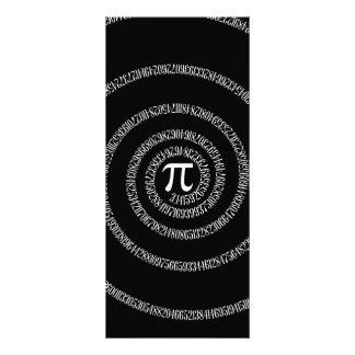 Spiral for Pi on Solid Black Customized Rack Card
