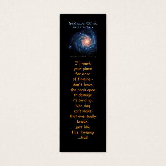 Spiral galaxy NGC 1232 and Little Theta bookmarks Mini Business Card