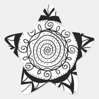 Spiral Mandala Flower Star Sticker