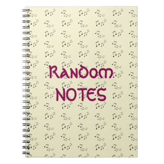 Spiral Notebook - Random Musical Notes