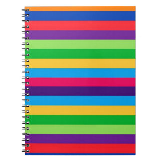 Spiral Notebook with Fun Stripes