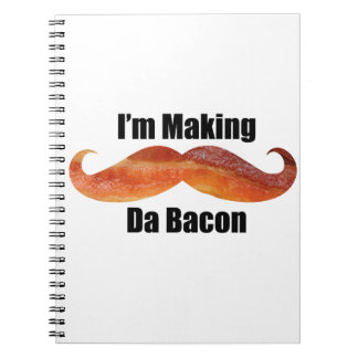 "Spiral Photo Notebook ""I'm Making Da Bacon"""