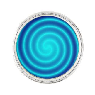 Spiraling Blue Vertigo Lapel Pin