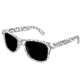 Spirals Pattern Black & White + your ideas Sunglasses
