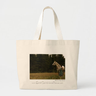 Spirit Horse and Woman Large Tote Bag