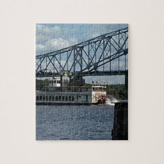 Spirit of Dubuque on Mississippi River Jigsaw Puzzle