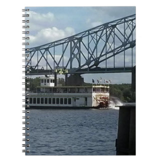 Spirit of Dubuque on Mississippi River Spiral Notebook