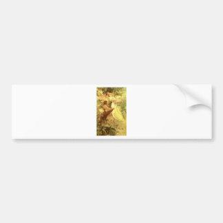 Spirit Of Spring by Alphonse Mucha Bumper Sticker