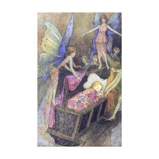 Spirits Baby Lullaby Warwick Goble Fine Art Canvas Print