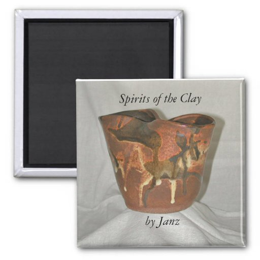 Spirits of the Clay Fridge Magnet
