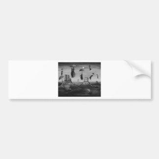 Spirits Of The Flying Umbrellas 2 BW Bumper Sticker