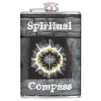 Spiritual Compass Hip Flask