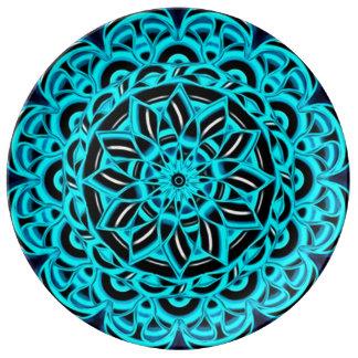 Spiritual Healing Flower Mandala Plate