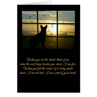 Spiritual Loss of Dog, Dog in Window Sympathy Card