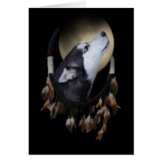 Spiritual Native American Dog Sympathy Card Dream
