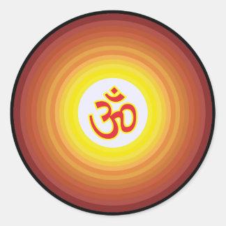 Spiritual Om Design Classic Round Sticker