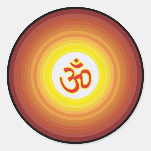Spiritual Om Design Sticker