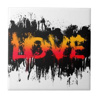 Splash Love Text Tile