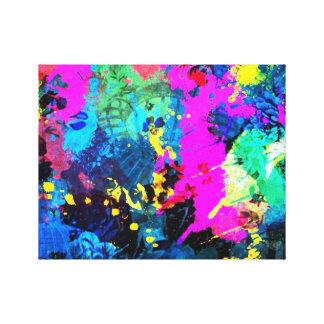 Color splash wrapped canvas prints for Color splash wall art