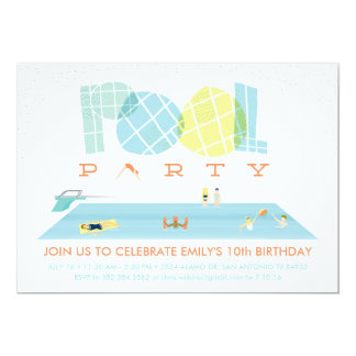 Splash Pool Party Card