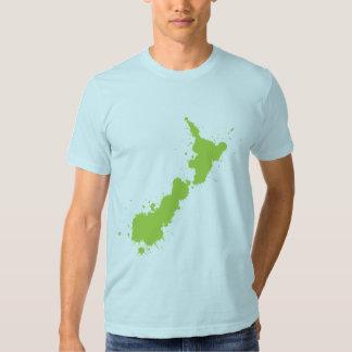 Splatter Green NZ T-Shirt