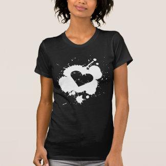 Splatter Heart Women's Dark T-shirt