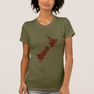 Splatter Red NZ Dark T-Shirt