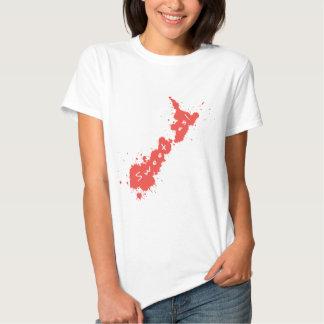 Splatter Red NZ Sweet As T-Shirt