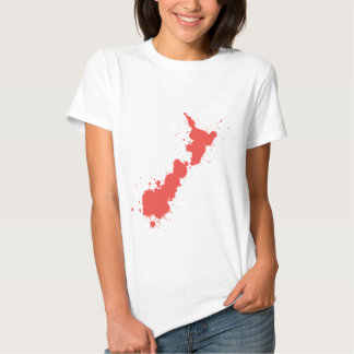 Splatter Red NZ T-Shirt