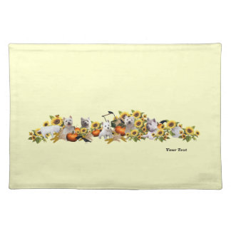 Splendid Westie Fall Harvest Cotton Place Mat