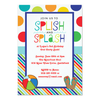 Splish Splash Bash (Blue) Card