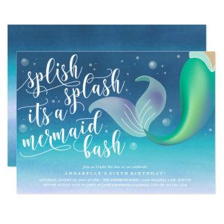 Splish Splash Mermaid Bash Birthday Invitation