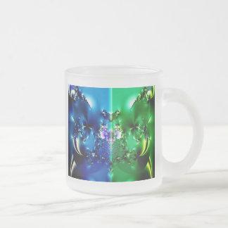 Split Frosted Glass Coffee Mug