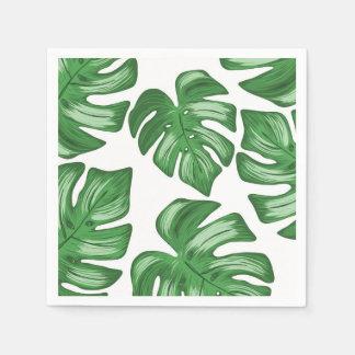 Split Leaf Philodendron Tropical Paper Napkins Disposable Napkin