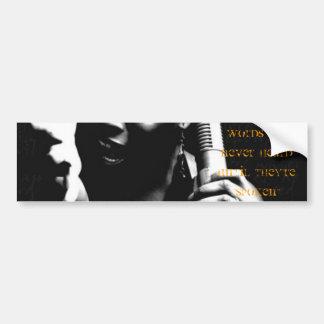 Spoken Word Bumper Sticker