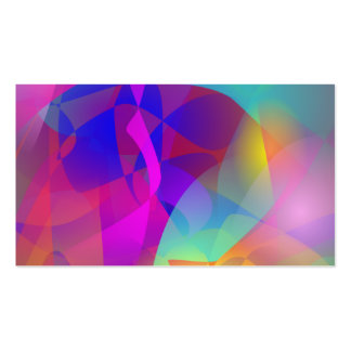 Spontaneous Abstract Art Business Card Templates