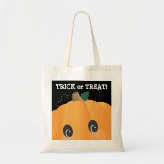 Spooky Cute Pumpkin Head Trick or Treat Bag
