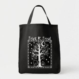 Spooky Scary Tree Halloween Trick R Treat Bag