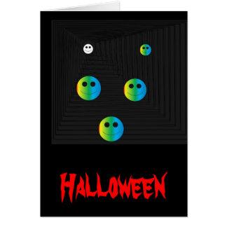 Spooky Smiley Faces >Halloween card