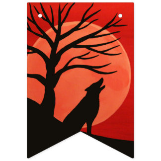 Spooky Tree Halloween Party Banner